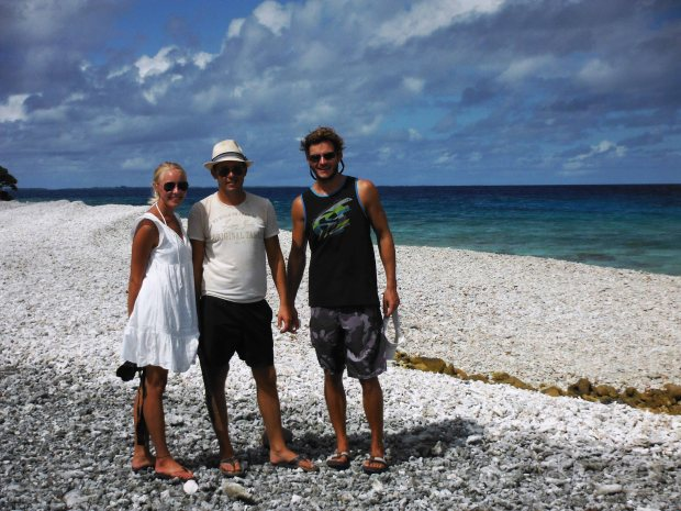 New friends Caroline and Johannes with Will