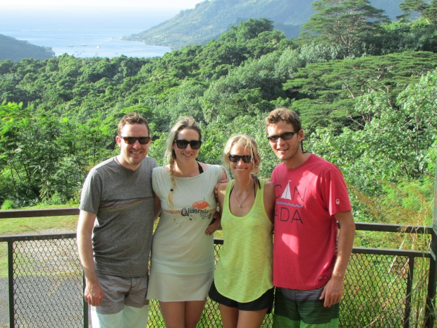 Simon, Katharine, Sarah & Will at the Belvedere lookout